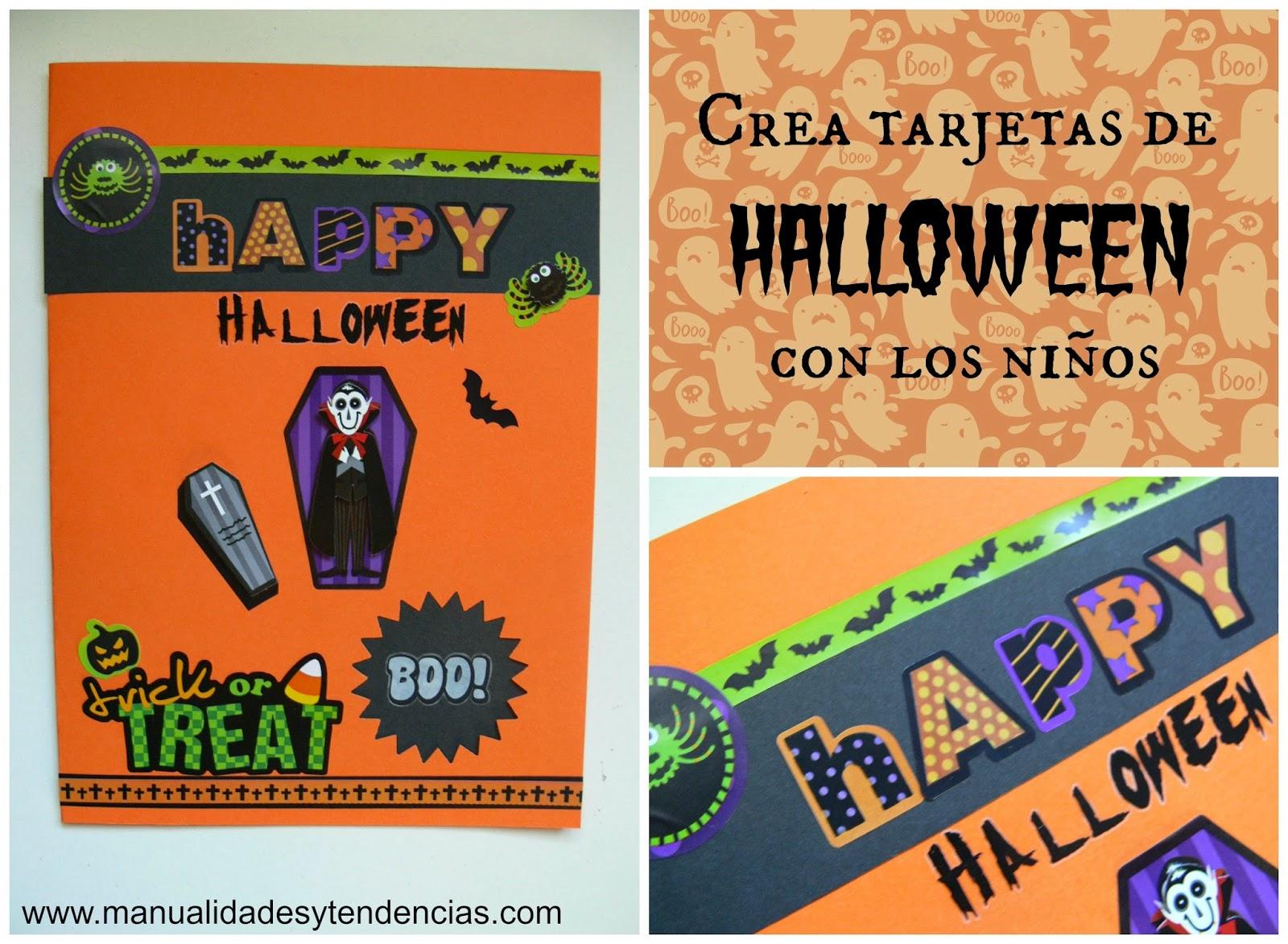 tarjeta para Halloween hecha a mano