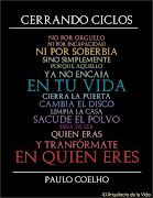FRASES DE REFLEXION PAULO COELHO · Cerrando ciclos: frases reflexion motivacion paulo coelho