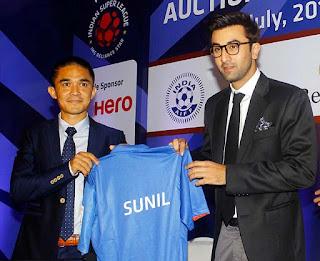 Sunil Chhetri bagged by Ranbir Kapoor team Mumbai City FC for Rs.1.20 crore