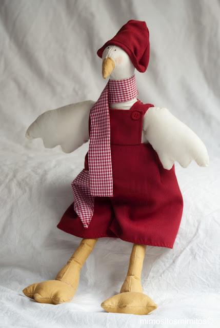 muñeco de tela hecho a mano para regalar pato ànec duck patito