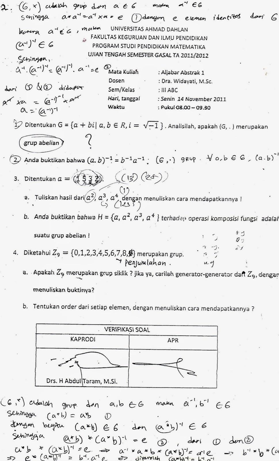 Soal Uts Pendidikan Matematika Uad Semester 4 Yang Wajib Diketahui