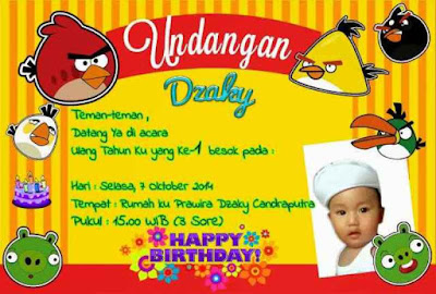 Desain undangan kartu ulang tahun anak