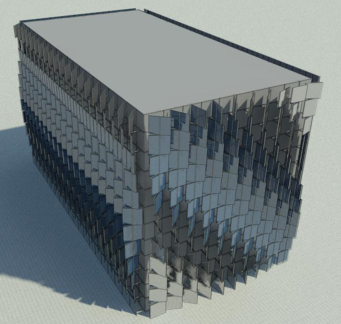 Curtain wall panel - Curtain Panels Set At 20 Intervals In Different Patterns