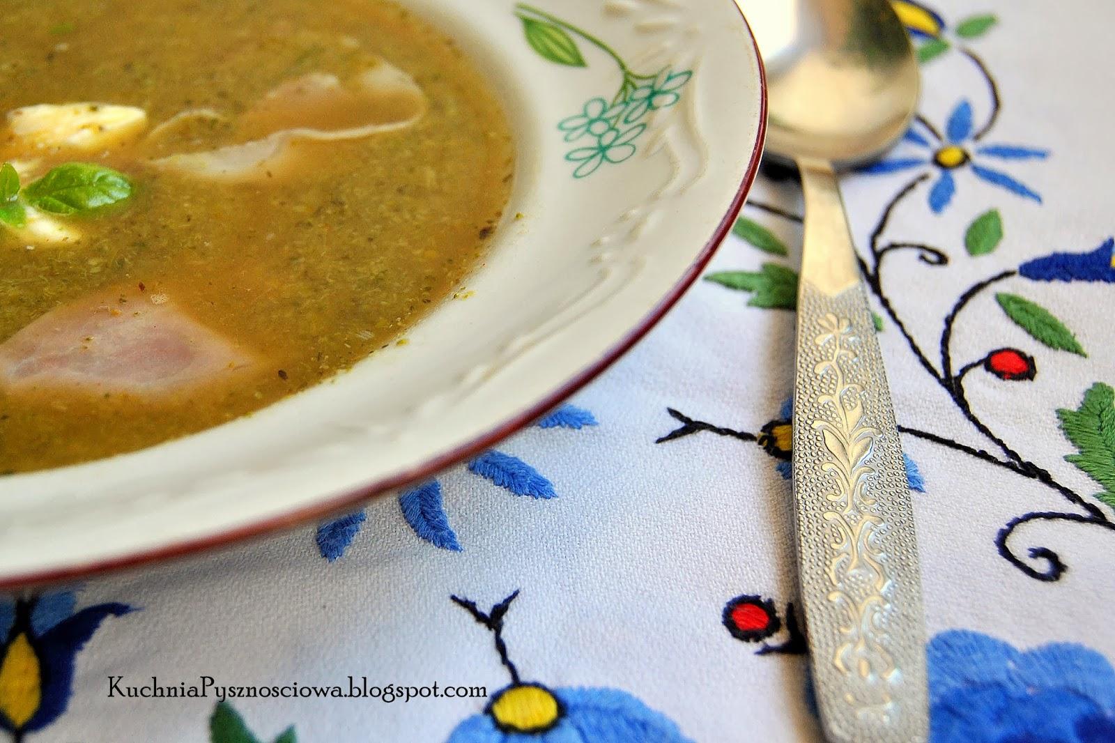 198. Zupa krem z brokułów z szynką parmeńską