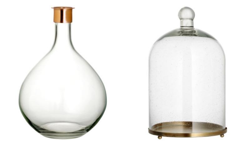 lasimaljakko ja lasikupu