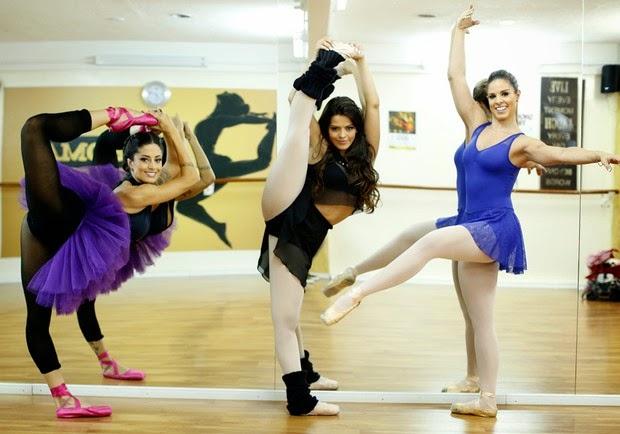 Dançarinas do Domingão do Faustão posam em academia