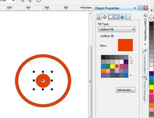 memberikan warna lingkaran