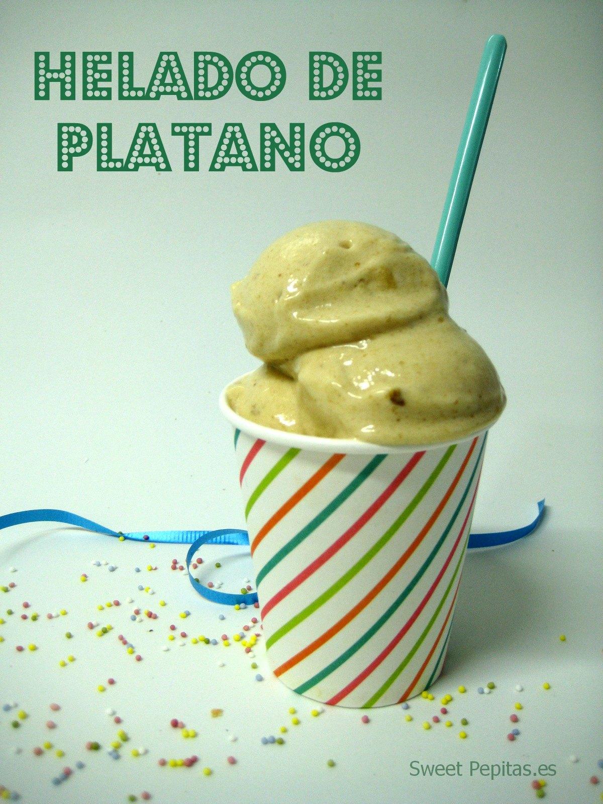 helado casero de plátano facil