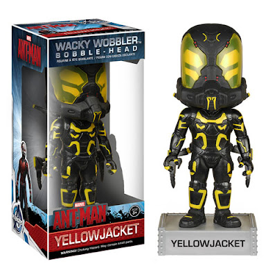 Ant-Man Marvel Movie Wacky Wobbler Bobble Heads by Funko - Yellowjacket