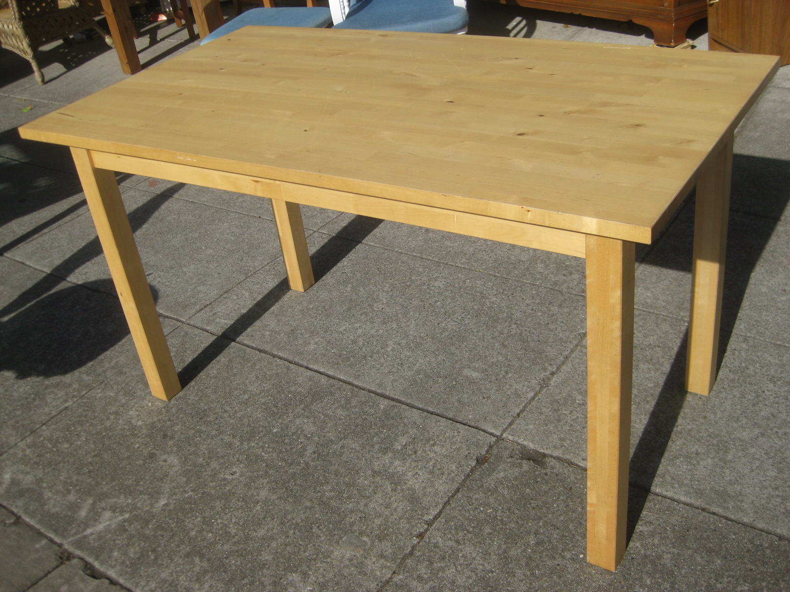 Dining table furniture ikea birch dining table - Birch kitchen table ...