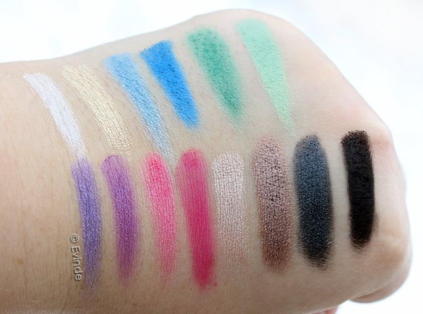 makeup revolution sticks & stones palette swatches