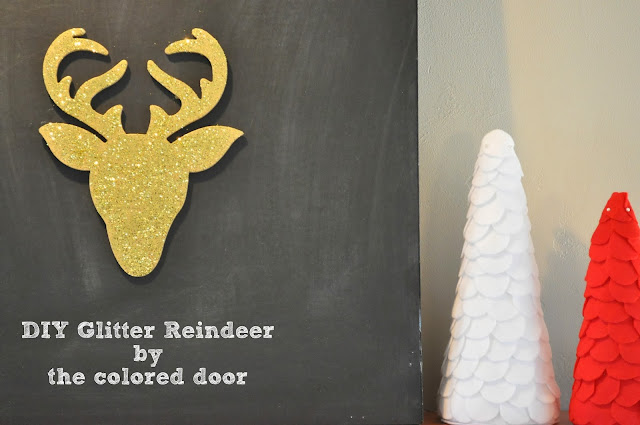 Glitter Reindeer - the colored door