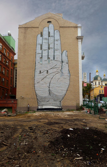 """Heil"" New Street Art Mural By Spanish Muralist Escif On The streets of Moscow, Russia. 2"