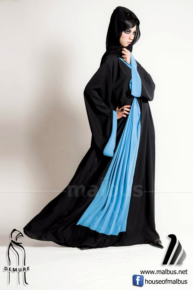 Abaya Collection 2013 By Malbus | New Abaya Designs 2013-14 | Simple ...