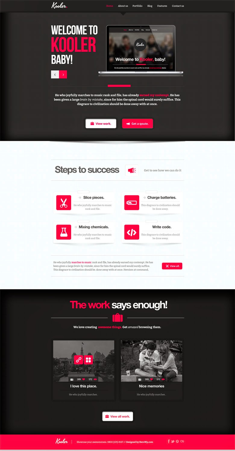 Kooler Homepage PSD Template