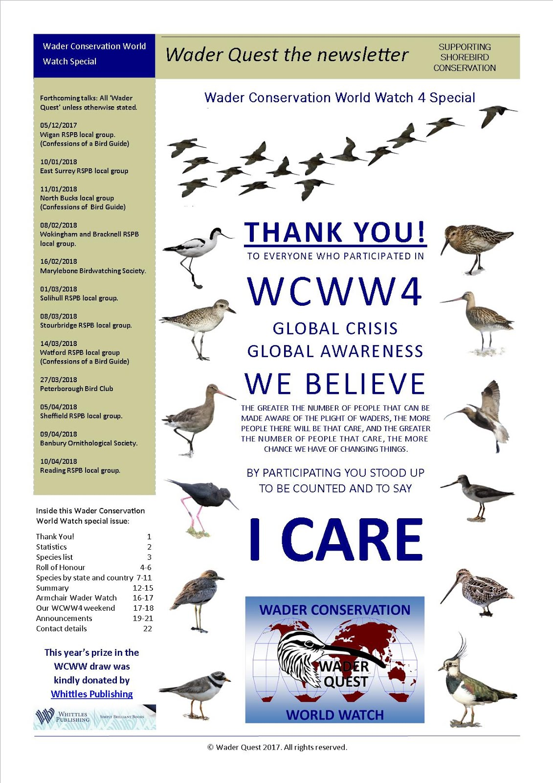 Wader Conservation World Watch special newsletter