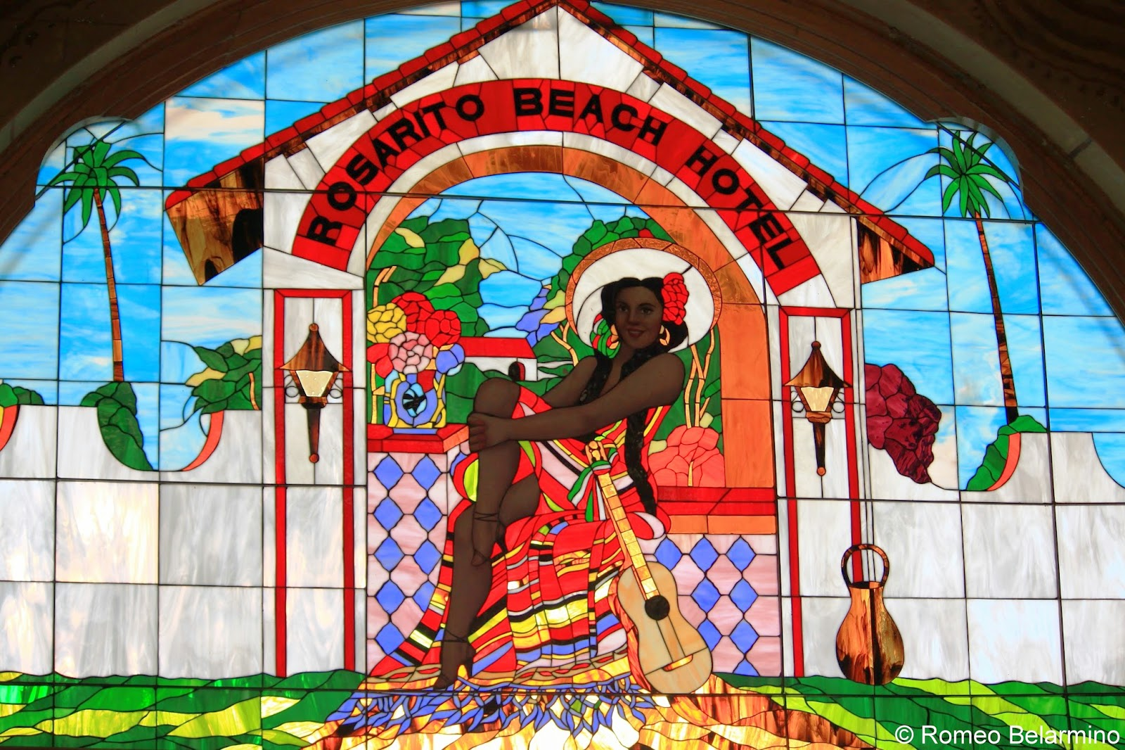 Rosarito Beach Hotel Stained Glass Baja California Mexico