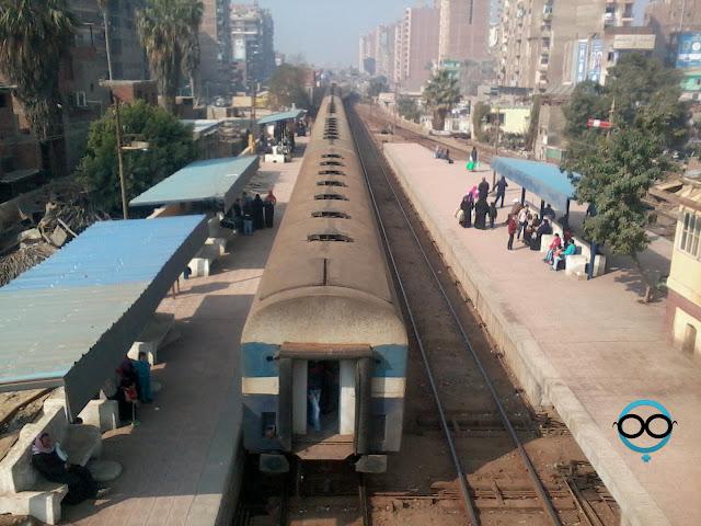 أعمال صيانة وتجديد بمحطة قطار ميت غمر