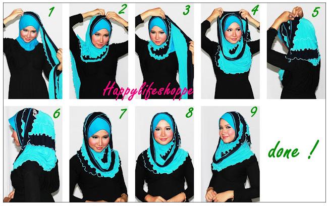 Model Jilbab Segi Empat