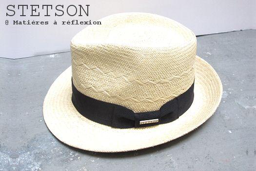 Soldes Chapeau Panama Stetson paille naturelle