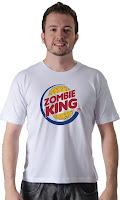 Camiseta Namorado Geek Zombie King