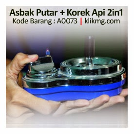 Asbak Putar + Korek Api 2in1 - Kode Barang : A0073