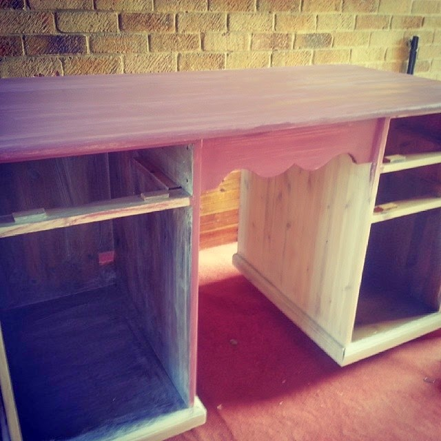 purple revamp desk