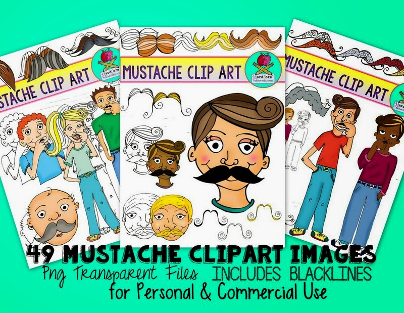 http://www.teacherspayteachers.com/Product/Mustache-Clip-Art-Mustache-Mania-ClipArt-I-Mustache-You-To-Check-These-Out-1343750