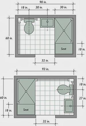 dasar desain kamar mandi barrier-free bath   desain denah