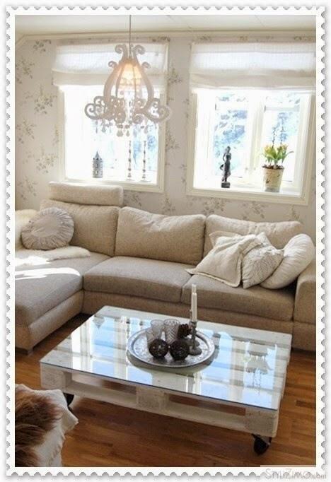 Querida claudina muebles con palets mesas y exterior - Pintar palets sin lijar ...
