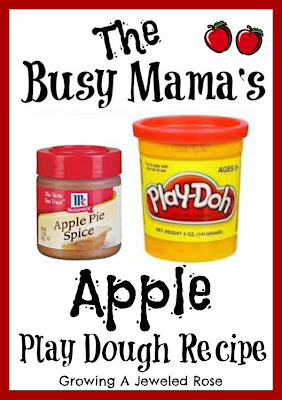 easy and quick Apple play dough recipe- craft recipes