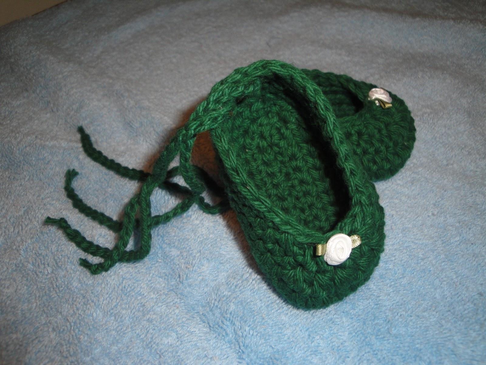 Punto De Cruz Zapatitos De Bebes Tejido Crochet Baby