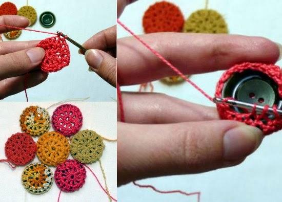 Mis puntadas preferidas c mo hacer botones de distintos - Como hacer cuadros con botones ...