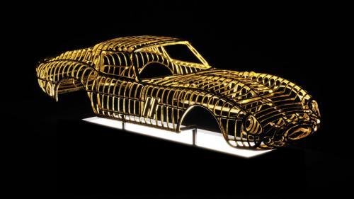 24-karat Ferrari 250 GTO sculpture by Dante Rubli