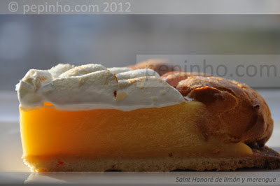 Saint Honoré de limón y merengue