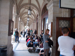"""Friday(4-9-2015):- Queue for  """"Standing Tickets"""" of the opera """"RIGOLETTO"""" at Vienna State Opera."""