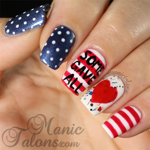 Patriotic Nails, Memorial Day Manicure