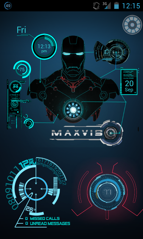 android cianjur: J.A.R.V.I.S. Iron Man UCCW