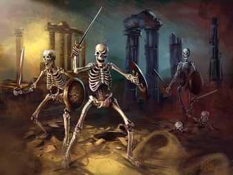 Esqueletos guerreros