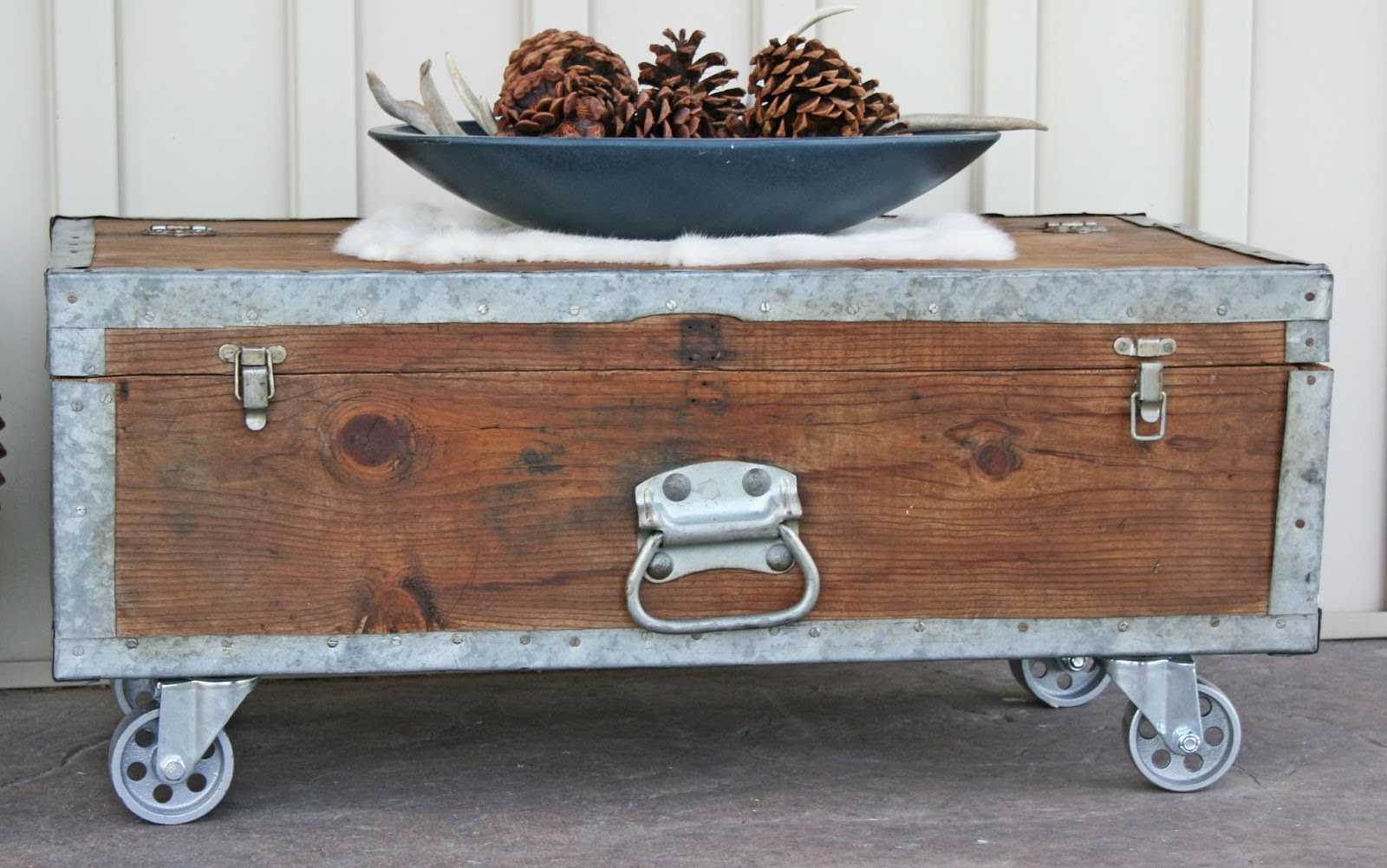 Antique Recreation Industrial Style Coffee Table
