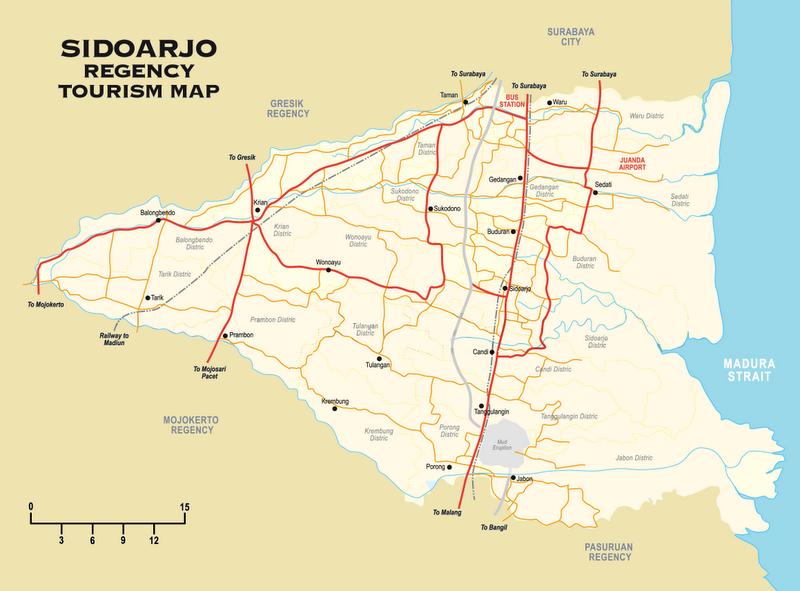 Takjub Indonesia Peta Kabupaten Sidoarjo Ibukota Terletak Wilayah Propinsi Jawa