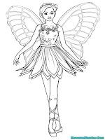 Mewarnai Gambar Barbie Mariposa