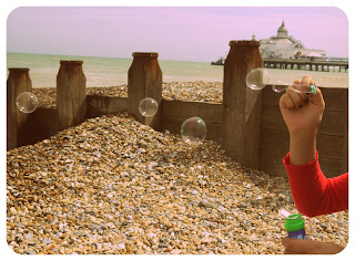 seafront sea bubbles