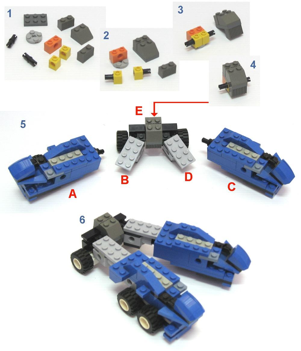 Как сделать трансформера из лего
