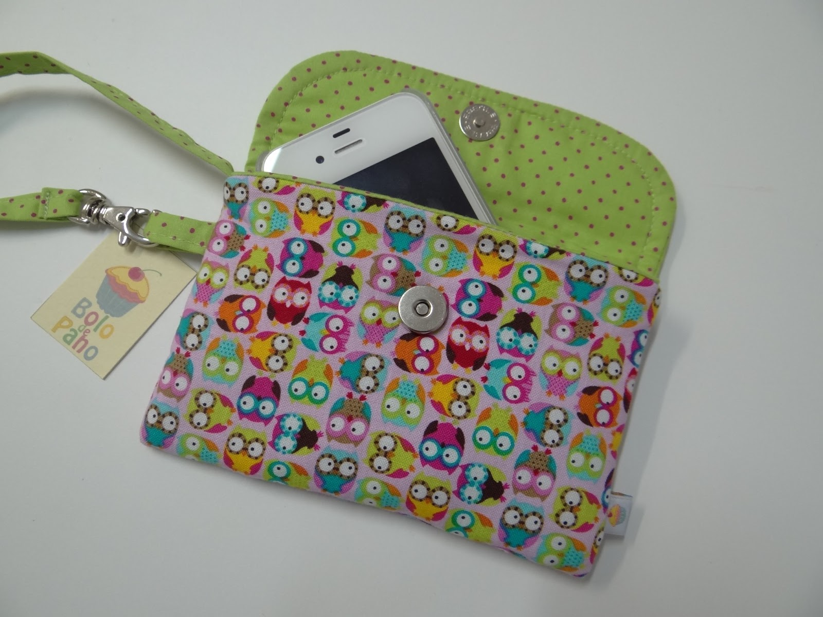 Bolsa De Tecido Com Fecho : Bolo de pano bolsa envelope mini corujinhas
