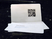 A photo of my business cards...