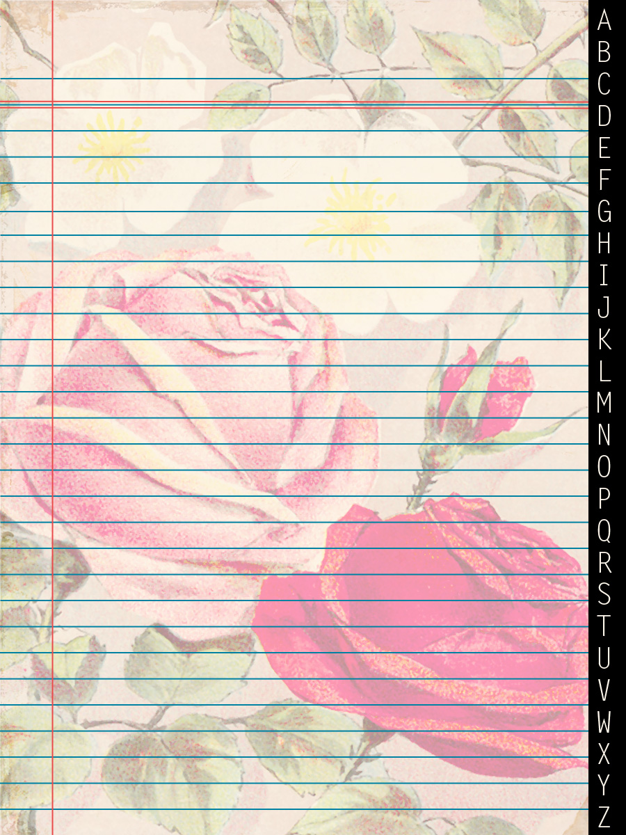 Scrapbook paper note - This Vintage Rose Note Paper Makes A Beautiful Journaling Card For Your Scrapbook Pages Or Project Life Pages
