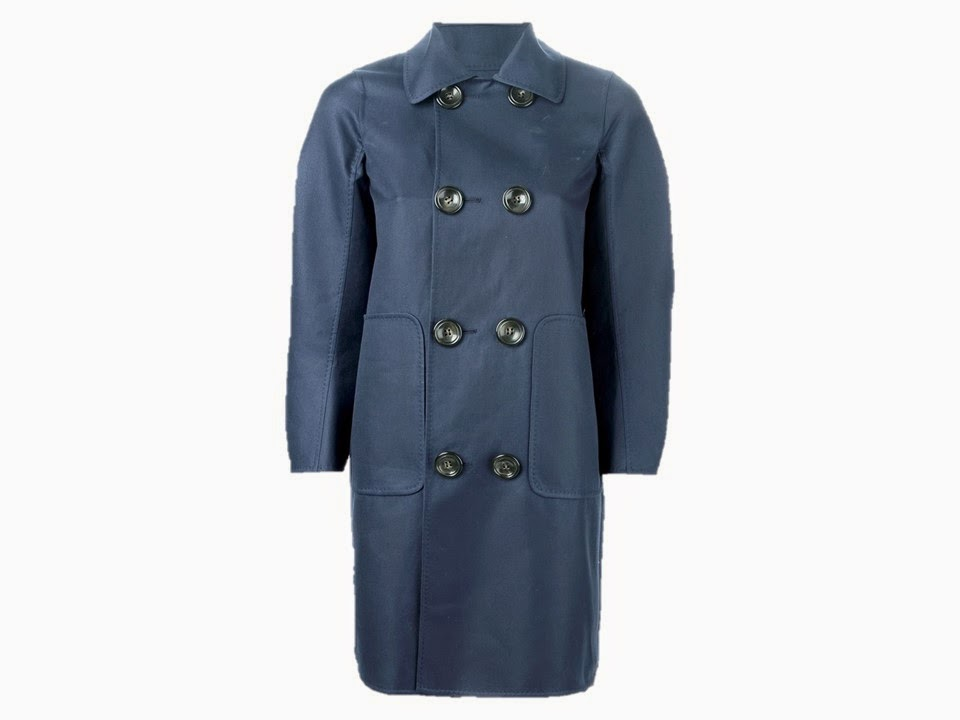 Slate blue or smoky blue coat from Dsquared2