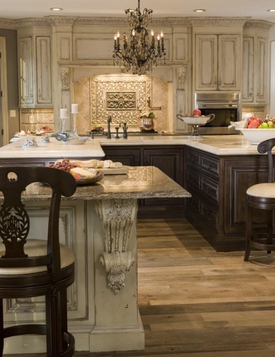 Kitchen Cabinets Dark Lower Light Upper – Quicua.com