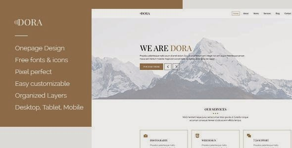 Best One page Creative Agency Portfolio Template